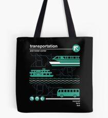 Einschienenbahn, Bus und Fähre Tote Bag