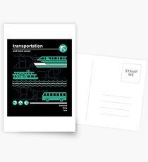 Einschienenbahn, Bus und Fähre Postkarten