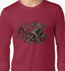 Dragons Fighting in Rings Long Sleeve T-Shirt
