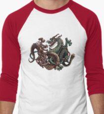 Dragons Fighting in Rings Men's Baseball ¾ T-Shirt