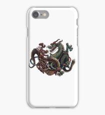Dragons Fighting in Rings iPhone Case/Skin