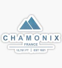 Chamonix Ski Resort France Sticker