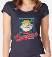 Caucasians Baseball Team Women's Fitted Scoop T-Shirt