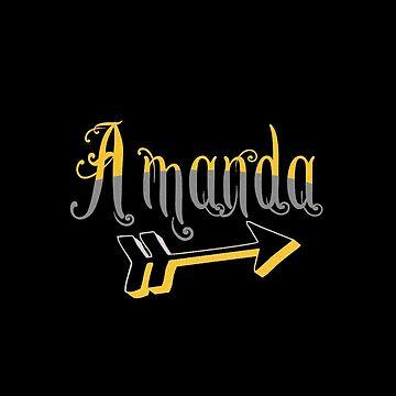 """Black Mug """"Amanda"""" by MaskedNinja"""