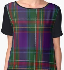 01155 Purple Haze Fashion Tartan Women's Chiffon Top