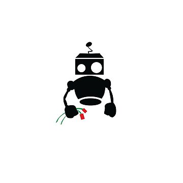 Robots with Roses small botz by datathegreat