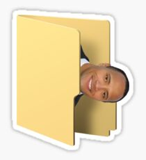 A rock in a folder Sticker