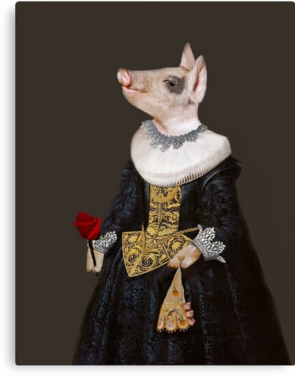 The Queen of Bling - Anthropomorphic Pig Composite by TheCurators