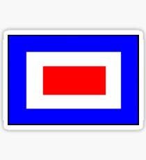 Letter W Nautical Flag Sticker