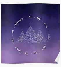 TO THE STARS WHO LISTEN AND THE DREAMS THAT ARE ANSWERED- SARAH J. MAAS Poster