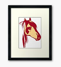 Red Horse Vintage Design Framed Print