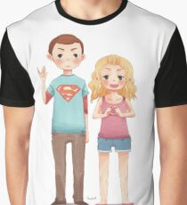 Das Gehirn und das Herz Grafik T-Shirt