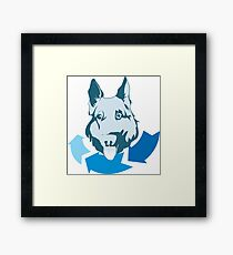 Returning Dog Cool Design Framed Print