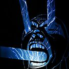 Screaming Face dark blue by Justin Beck