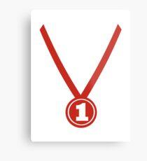 Medal winner champion Metal Print