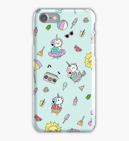 Summer Unicorn Pool Party iPhone Case/Skin