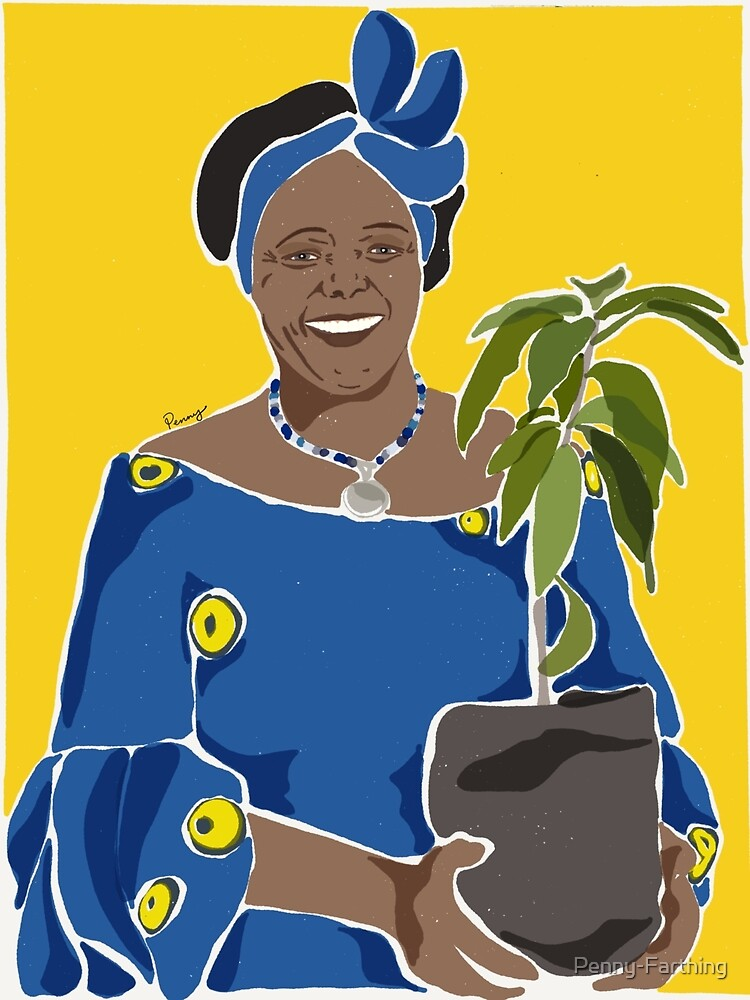 Wangari Maathai limited edition by Penny-Farthing