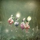 Floating Fuchsia Fairies by Susan Schroder Arts