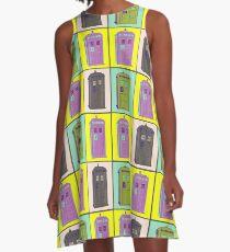 TIMEY WIMEY WARHOL TARDIS 1 A-Line Dress