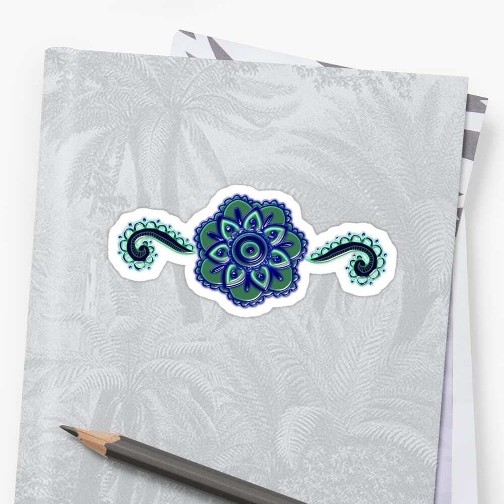 Flower Paisley and swirls version 2  by risadilla
