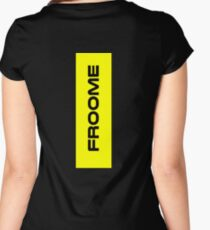 Chris Froome Yellow Women's Fitted Scoop T-Shirt