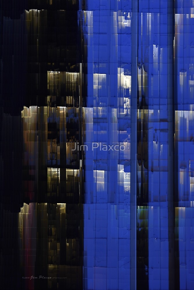 Office Night Reflections Digital Photograph by Jim Plaxco