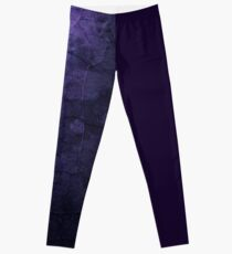 Abstract Purple Split leg Leggings