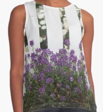 White Picket Fence Contrast Tank
