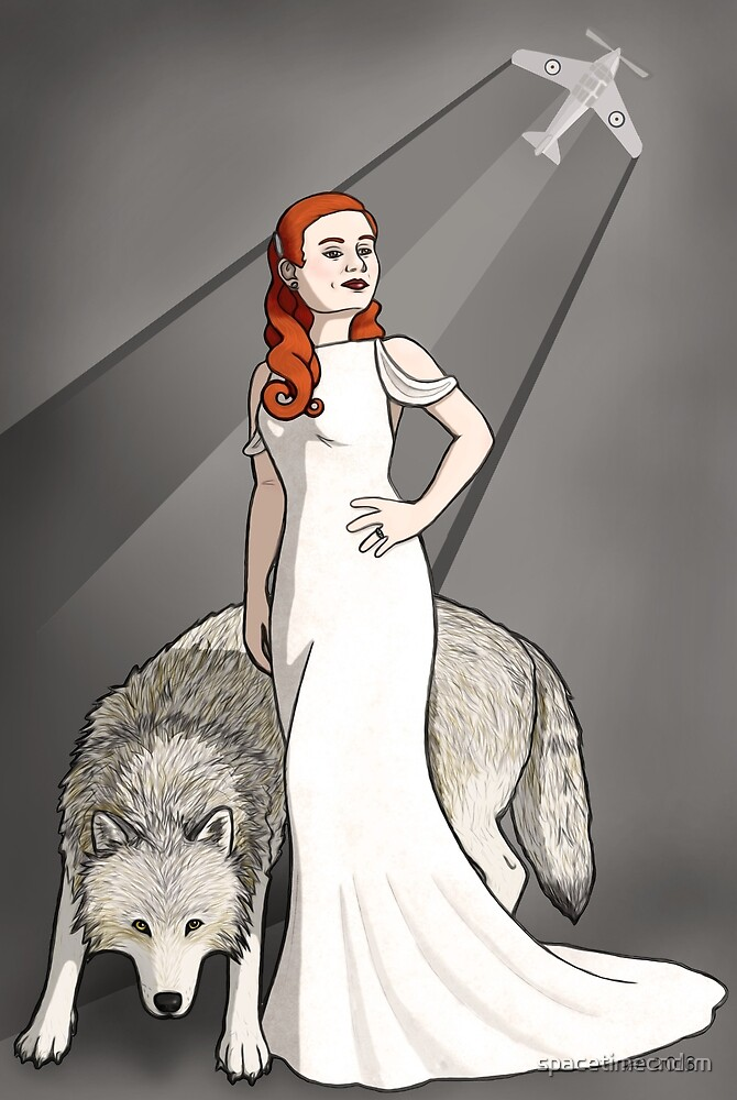 The Lady and the Wolf by spacetimecndrm