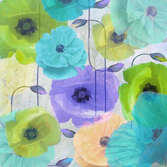Poppy Shimmer Pattern IV by mindydidit