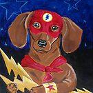 Dachshund Super Hero - The Dash by dvampyrelestat
