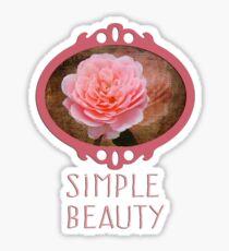 Simple Beauty in Pink Sticker