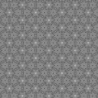 HexaBox Black & White Geometric Pattern by ARTDICTIVE
