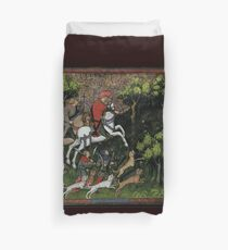 Medieval Huntsman Duvet Cover