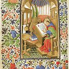 Medieval Scribe with Winged Lion by jenithea