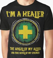 Warcraft - I'm A Healer The Angel Of My Allies And The Devil Of My Enmenies Graphic T-Shirt