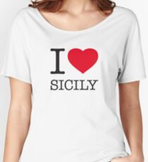 I ♥ SICILY Women's Relaxed Fit T-Shirt