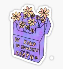 be kind flower cigarette box Sticker
