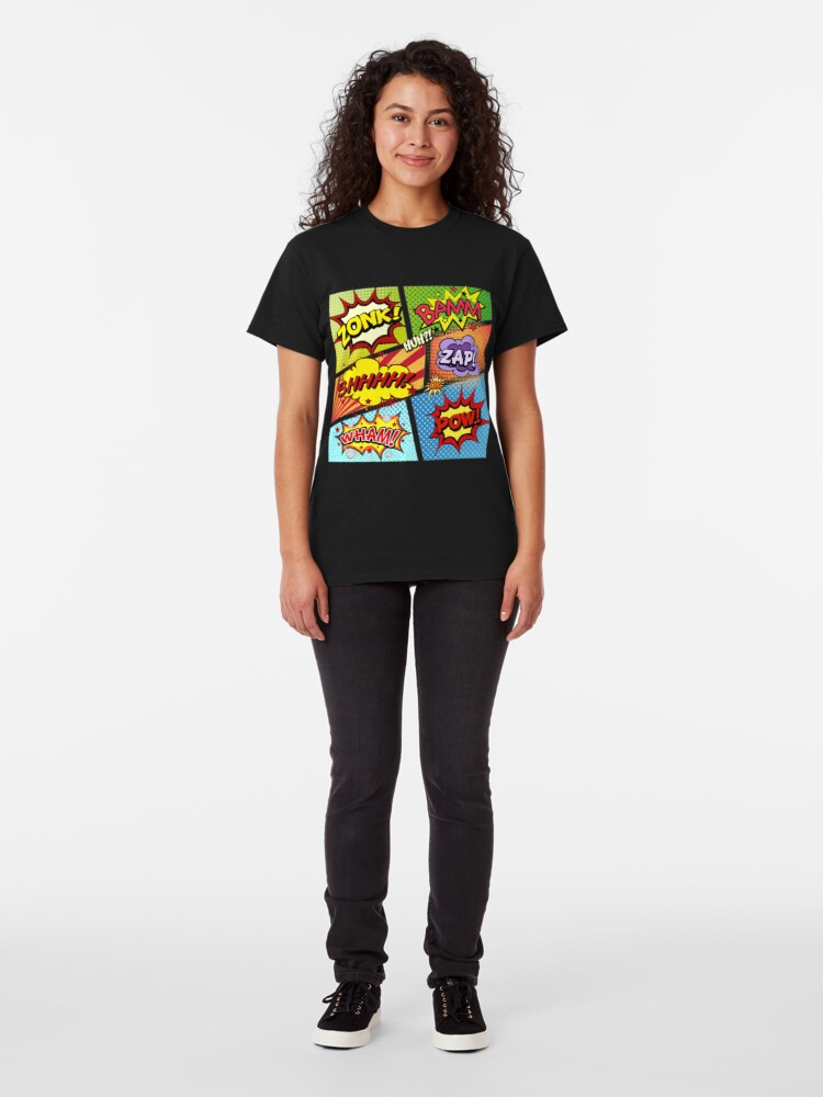 Alternative Ansicht von Bunte Comic-Buch-Tafeln Classic T-Shirt