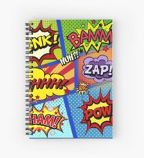 Colorful Comic Book Panels Spiral Notebook