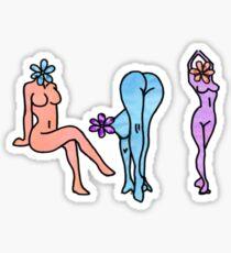 naked women posing  Sticker