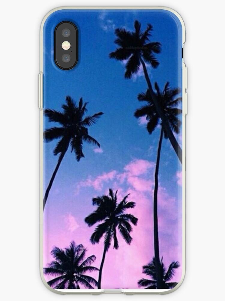 Sunset Palm Trees by Emmaweinstein1
