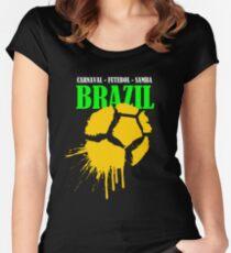 Brazil....Brazil...Brazil... Women's Fitted Scoop T-Shirt