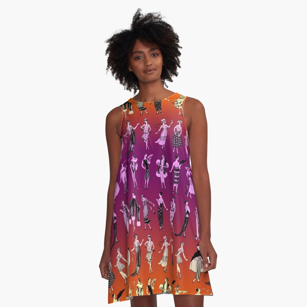 La Vie Parisienne - Sunset A-Line Dress Front