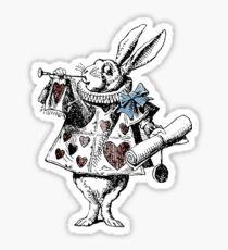 Alice in Wonderland White Rabbit Sticker