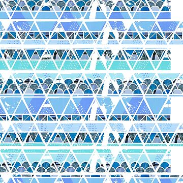 Ocean Geo Pattern Repitition by lilrachcreative
