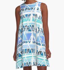 Ocean Geo Pattern Repitition A-Line Dress