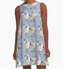 Abominable snowman couple at Christmas A-Line Dress