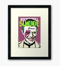 Rock Suicide Framed Print