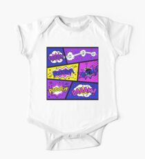 Girly Comic Book Panels Kids Clothes